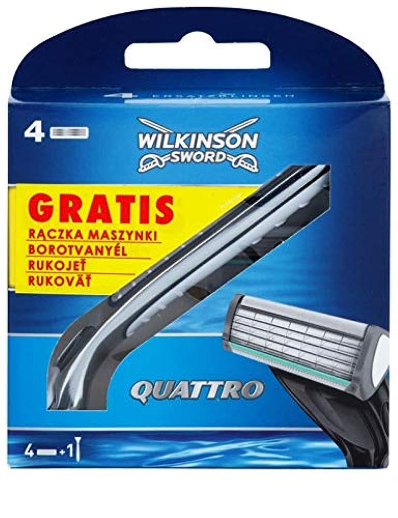 クレアヒップ民族主義Wilkinson Sword Quattro ウィルキンソンソード クアトロ 4 +1 [並行輸入品]