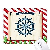 ラダー探査の軍の海軍 ゴムクリスマスキャンディマウスパッド
