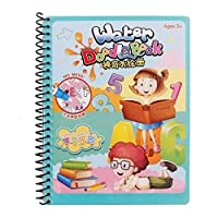 Burgundy Reusable Magic Water Drawing Book Coloring Book Doodle With Pen Painting Board Juguetes Kid Toys For Children Education Drawing