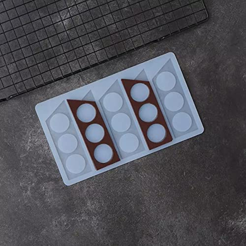 RTYY Trapezform Schokoladenform Schablone DIY Schokolade Garnieren Chip Kuchen Dekorieren Silikon Unregelmäßige Polygonform
