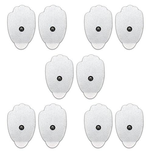 Novatech Almohadillas Electrodos, TENS Electroestimulador Máquina para electrodo Pads Snap 3,5 mm Conector TENS Electrodos Parches para TENS Digital Terapia Máquina Massager(10*Pieces)