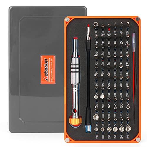 Juego de destornilladores de precisión 68 piezas Kit de herramientas de reparación multifuncional para iPhone,...