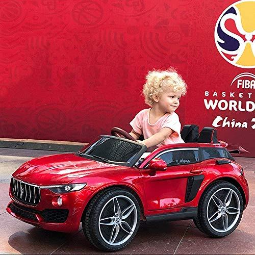 1yess Kinder Elektro-Auto-Allradantrieb Vierrad Bluetooth Fernbedienung Auto 1-6 Kind Baby Schaukel TCAN Sit Kinderwagen Kinder Neujahr Weihnachtsreiten Geschenke (Farbe: weiß) (Farbe: Red2)