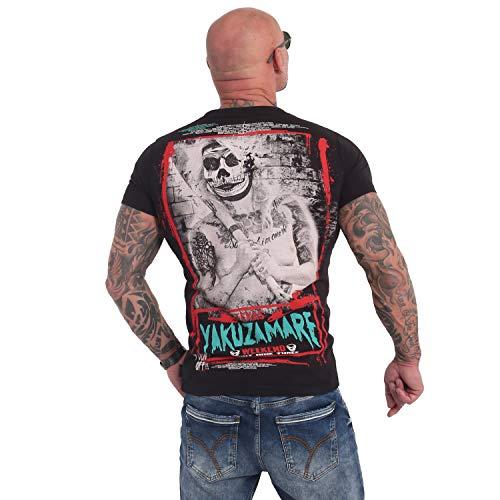 Yakuza Herren Yakuzamare T-Shirt, Schwarz, 4XL
