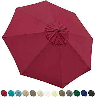 EliteShade 9ft Patio Umbrella Market Table Outdoor Deck Umbrella Replacement Canopy (Burgundy)