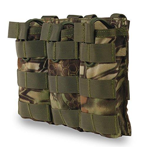 XUE Revista Bolsa de Camuflaje para M4 M16 AR15 HK416 Open Top mag Holder Triple Airsoft mag Bolsa táctica Mochila Chaleco Accesorios Molle