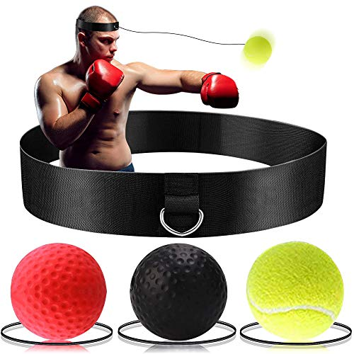 Boxing Reflex Ball  Boxing Training Ball 3 Difficulty Level Boxing Ball with Headband Suit for Reaction Agility Punching Speed Fight Skill and Hand Eye Coordination Training