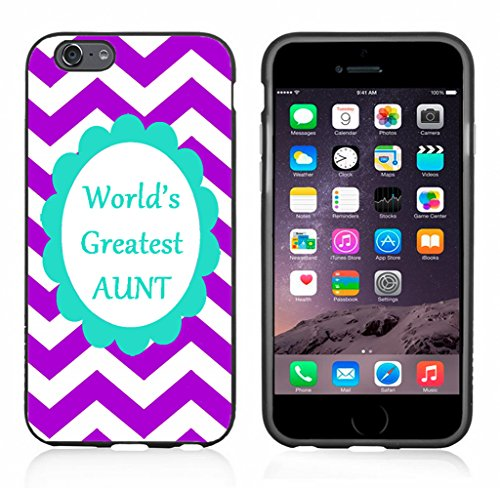 Chevron Purple Greatest Aunt Case/Cover for iPhone 6 or 6S by Atomic Market