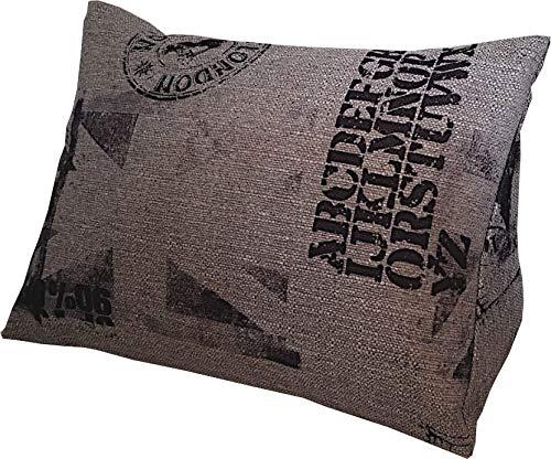 Kissen & more Lese-Kissen und Rückenstütze für optimalen Sitzkomfort, Keil-Kissen, Nacken-Kissen, Deko-Kissen, Fernsehkissen für Bett und Couch Cedros, mit Schaumstoffflocken (grau) (grau)
