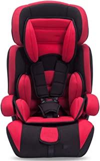 Baby Car Seat Child Safety Seat Car with 0-12 Years Old Car Can Sit Reclining Isofix Car Supplies,Red