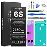[2750mAh] Battery for iPhone 6S (2021 New Version), Conqto New Upgraded Higher Capacity 0 Cycle Battery Replacement for iPhone 6S Model A1633, A1688, A1700 with Complete Professional Repair Tool Kits