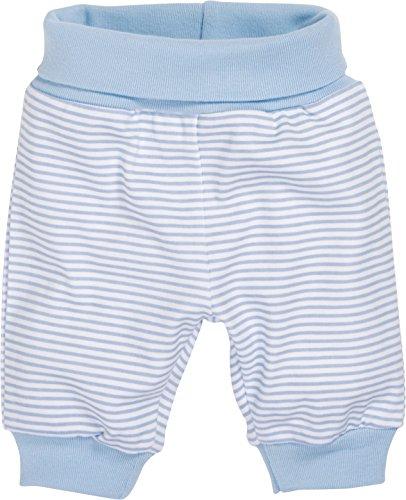 Schnizler Kinder Pump-Hose aus 100% Baumwolle, komfortable und hochwertige Baby-Hose mit elastischem Bauchumschlag, gestreift, Blau (Weiß/Bleu 117), 62