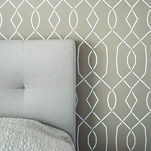 "STENCILIT® Moorish Trellis Large Wall Stencil For Painting - XL 24""x34.5"" - Lattice Wall Paint Stencils - Geometric Stencils For A Great Accent Wall"
