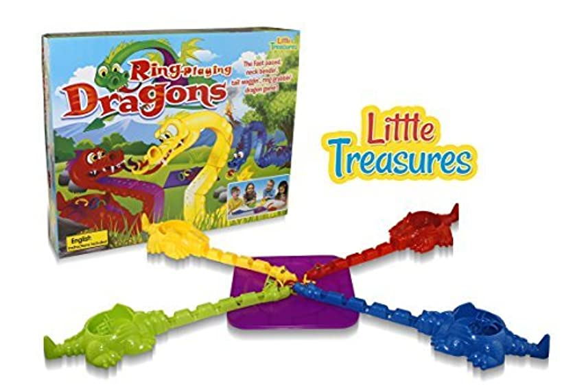 Little Treasures Ring-Playing Dragons Educational Game, Collect The Most Rings The Dragons Back to Win! Fun Educational Game for Boys and Girls.