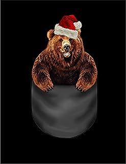 Fox Republic クリスマス グリズリーベア ポケット ネイビー キッズ パーカー シッパー スウェット トレーナー 150cm