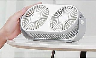 CJW Creativo Big Wind Bean Doble Cabeza Escritorio Escritorio Ventilador de aromaterapia USB Escritorio Oficina Mini Venti...
