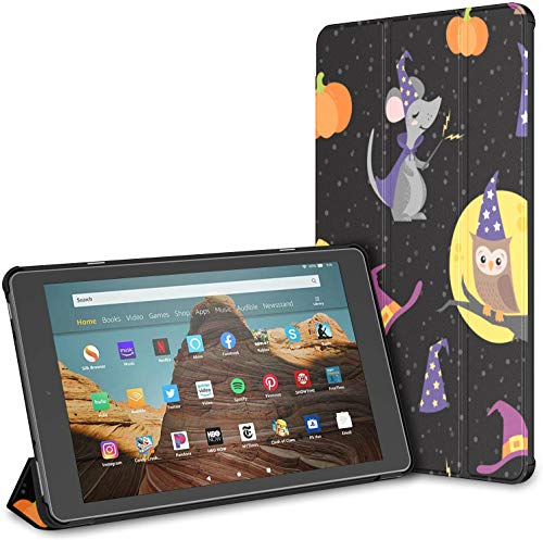 Case For All-new Amazon Fire Hd 10 Tablet (7th And 9th Generation,2017/2019 Release),slim Folding Stand Cover With Auto Wake/sleep For 10.1 Inch Tablet, Wizard Witch Friends