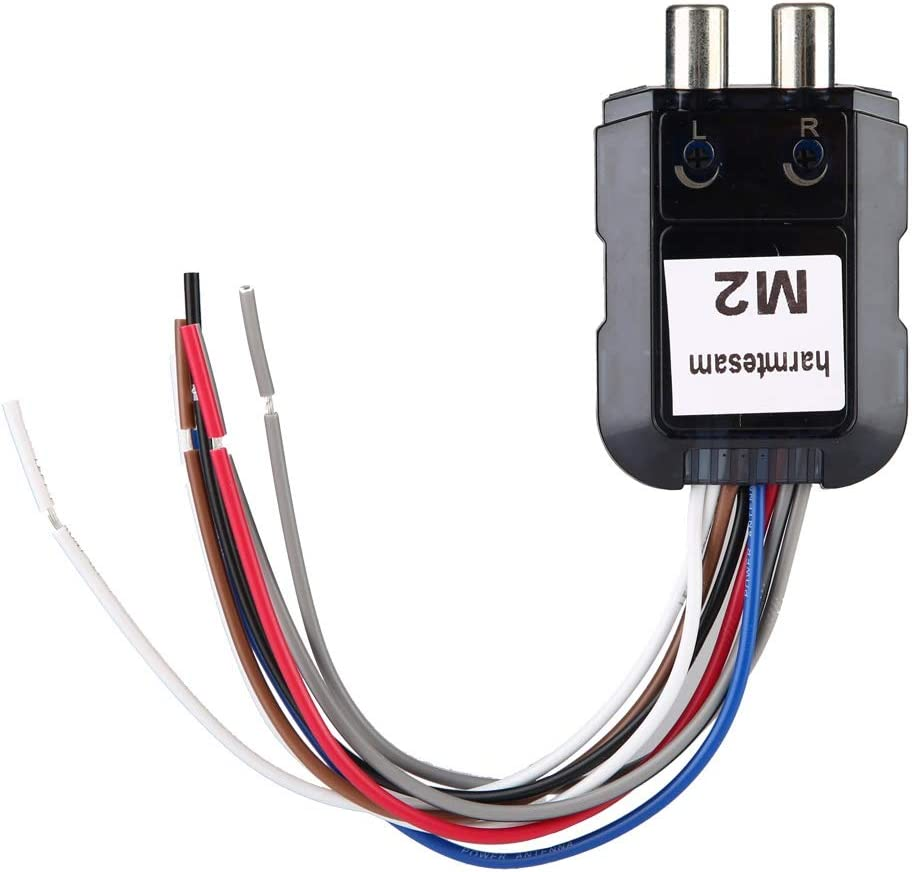 Car o Converter,Car Stereo Subwoofer 2 Channel High to Low o Converter with Power Amplifier Control Wire