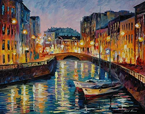 EACHHAHA 1000 Piezas Puzzle,Pintura al óleo de Venecia Puzzles para Adultos, 70x50CM,Rompecabezas de Piso Juego de Rompecabezas y Juego Familiar