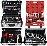 FAMEX 420-21 Alu Werkzeugkoffer mit Top-Werkzeugbestückung und Steckschlüsselsatz