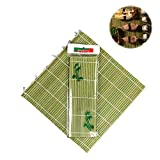 Daity Sushimatte, Sushi Rollmatte aus Grüner Bambus (27x27cm)
