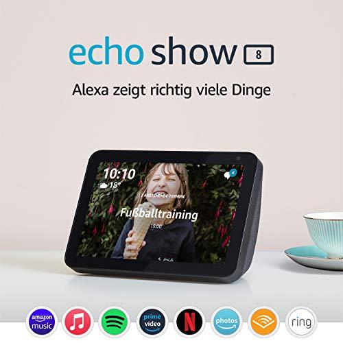 Echo Show 8 | Durch Alexa in Verbindung bleiben, Anthrazit Stoff