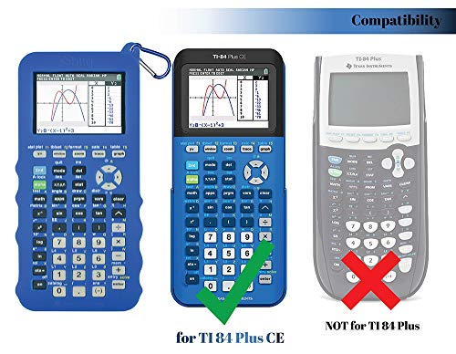 Silicone Case for Ti 84 Plus CE Calculator (Blue) - Cover for Texas Instruments Ti-84 Graphing Calculator - Silicon Skin for Ti84 Plus - Protective & Anti-Scretch Cases - Ti 84 Accessories by Sully Photo #4