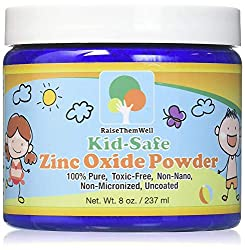 Kid-Safe Zinc Oxide Powder. Lead Free. 100% pure, non-nano, non-nicronized, uncoated, cosmetic grade
