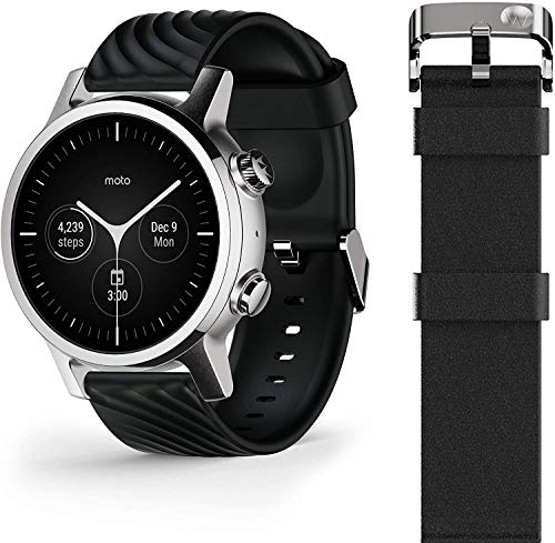 Motorola Moto 360 3rd Gen Smartwatch - Stainless Steel Case With 20mm Bands, All-day Battery, & WearOs Steel Grey