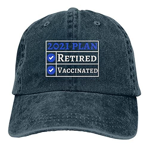 Jopath 2021 Piano in pensione e vaccinato fresco pensionamento vaccinazione classico cappello berretto da baseball uomini donne cappello lavabile Marina Militare Taglia unica