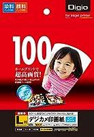 (業務用セット) インクジェット用紙 デジカメ印画紙 強光沢・超厚手 L判 100枚 JPSK-L-100GN【×5セット】
