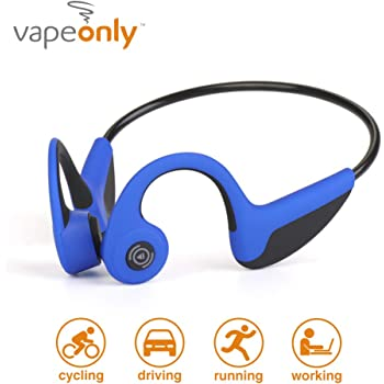 Bone Conduction Headphones Bluetooth Wireless Titanium HiFi Stereo with Mic for Running Driving Cycling Waterproof Open Ear Sports Headsets for Android (Blue)