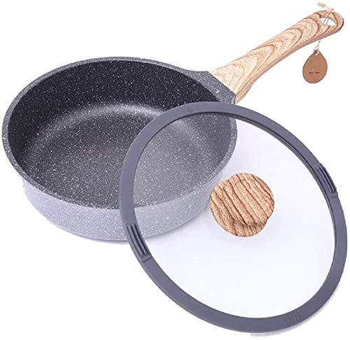 YAYY Anti-aanbak Wok Zonder Olie Pan Huishoudelijke Frying Pan Gas Cooker Universeel 24Cm (Upgrade)