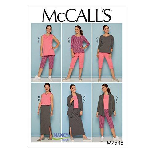 Mccall's Patronen 7548 RR, Missen/Dames Jack, Tops, Rok en Broek, Maten 18W-24W, Tissue, Multi-Colour, 17 x 0.5 x 0.07 cm