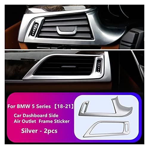 Rumors Para BMW 5 Series G38 525LI 530LI 2018-2021 Control de Aire Control de Aire Control Cubierta de Aire Acabado Accesorios Accesorios (Color Name : Silver)