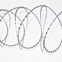 UnfadeMemory Stacheldraht Natodraht Klingendraht Sperrdraht Widerhaken Verzinkter Stahl Ziehharmonika NATO-Draht Schutz f/ür alle Au/ßenverwendung 60 m