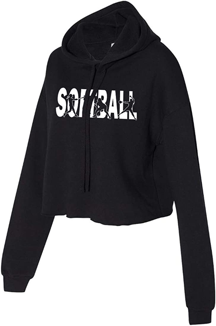 Softball Cropped Hoodie for Athletic Teen Girl