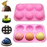 Half Ball Sphere Silicone Mold for Chocolate Cookie Rectangular Mousse Desert Biscuit Stick Bread Jelly Pudding Baking Pancake Baking Mould Pan for Thanksgiving Christmas & UK in Stock