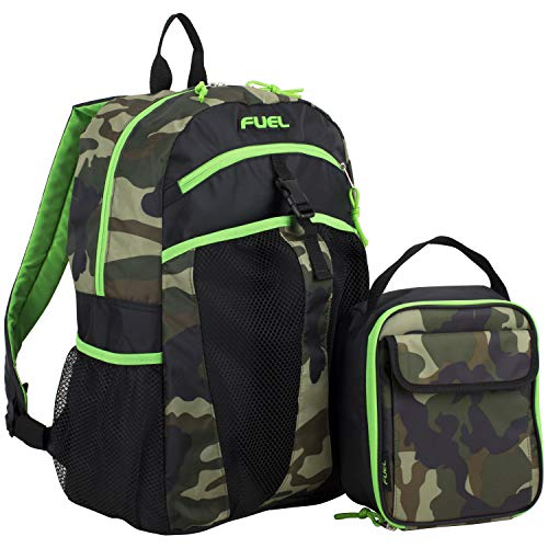 Fuel Backpack & Lunch Bag Bundle, Black/Army Camo Print