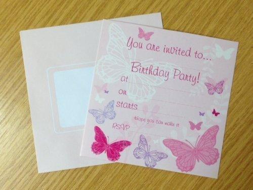 16 X Geburtstag Einladung Party mit Schmetterling Design