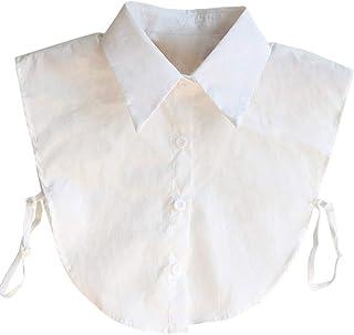 SIEGES つけ襟 フェイク襟 シャツ ブラウス レース 白 清楚 リボン 付け衿 シンプル 重ね着 レギュラー 偽襟 インナー レディース かわいい