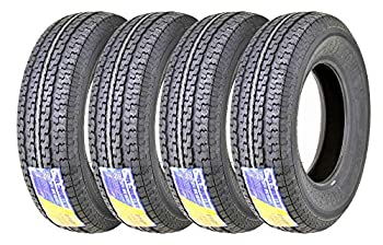 Set 4 FREE COUTNRY Premium Trailer Tires ST 205/75R14 8PR Load Range D Steel Belted Radial w/Feautred Scuff Guard