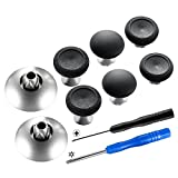eXtremeRate 8 in 1 Black Metal Magnetic Thumbsticks Analog Joysticks for Xbox One, Xbox One Elite, Xbox One S, Xbox Series X, PS4 Slim, PS4 Pro, PS4 Controller with T8H Cross Screwdrivers
