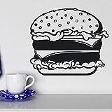 BailongXiao Hamburguesa de Comida rápida Pan Queso Ensalada Etiqueta de la Pared Interior de Vinilo calcomanías de Cocina Papel Tapiz Mural extraíble 88x75 cm
