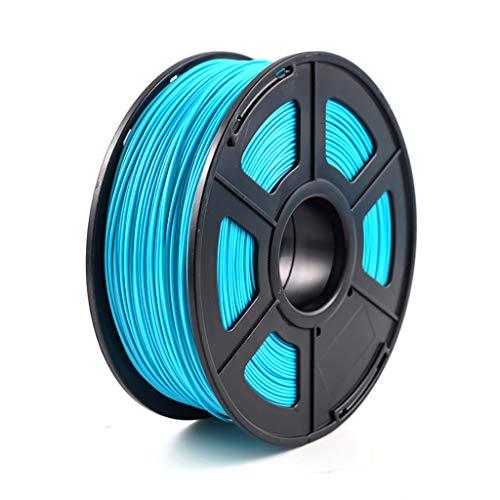 Material De Impresión del Carrete del Filamento De La Impresión 3D del Filamento De ABS1.75mm 1kg, Usado para La Bobina De La Impresora 3D(Color:Agua Azul)
