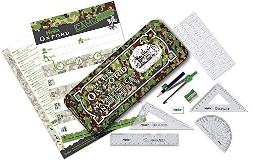Helix Oxford - Juego de matemáticas de camuflaje, color verde