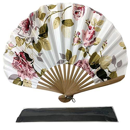 Ascot estilo elegante de la tela de seda ventilador de la mano ( AS21 )