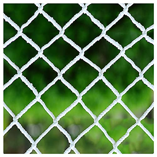 Balcony netting for pets Cargo Safety Net Rope Net White Net Rope Thickness 4MM Aperture 8CM Climbing Net Used To Protect Children's Safety Of Rock Climbing Amusemen(Size:1*5m(3.2*16.4ft),Color:White)