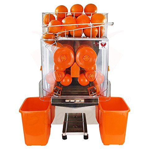 Beeketal 'Essence' Elektrische Profi Orangensaftpresse automatisch, 20 Orangen pro Minute Durchsatz, passend für Ø 40-95 mm Orangen, Korb für ca. 30 Orangen, Juicer inkl. Zubehör