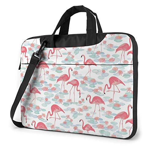 XCNGG Bolso de hombro Computer Bag Laptop Bag Carrying Laptop Case, Youth Flamingo Computer Sleeve Cover with Handle, Business Briefcase Protective Bag for Ultrabook, MacBook, Sony, Notebook 15.6 inch
